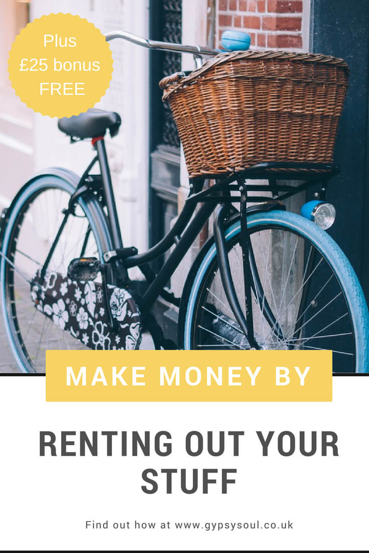 Find out here how to make money by renting out your stuff. It's really easy and you can get a £25 bonus for FREE