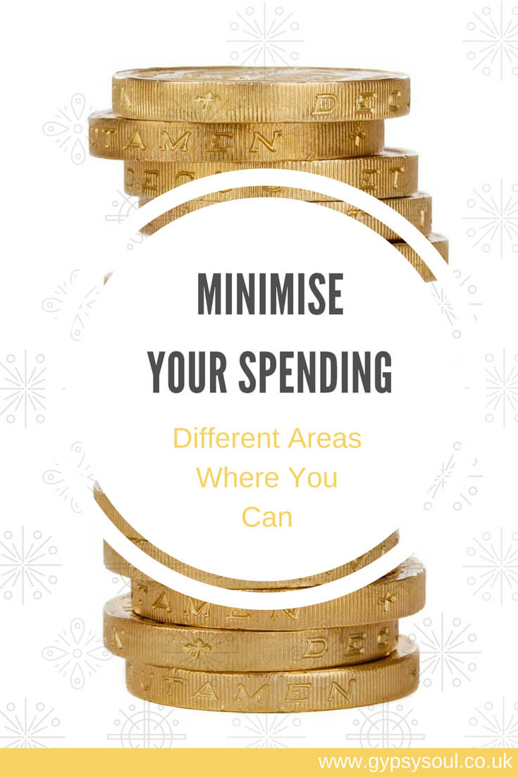 Minimise your spending: Different Areas wheer you can #ThriftyLiving #MoneySaving