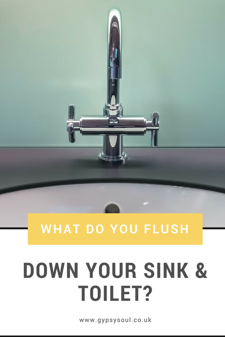 What do you flush down the sink or toilet? Do you know what can and can't go down there?