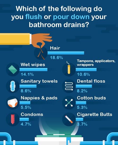 what do you flush
