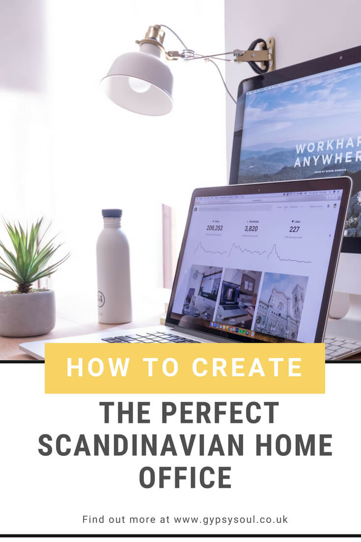 How to create the perfect Scandinavian home office. Check out these ideas and Scandinavian design elements whihc are easy to add into your own home office space. #ScandinavianHomeOffice #HomeOffice #OfficeDecor