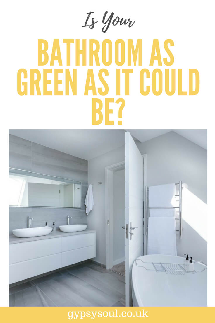 Is your bathroom as green as it could be? #eco-friendlybathroom #greenliving