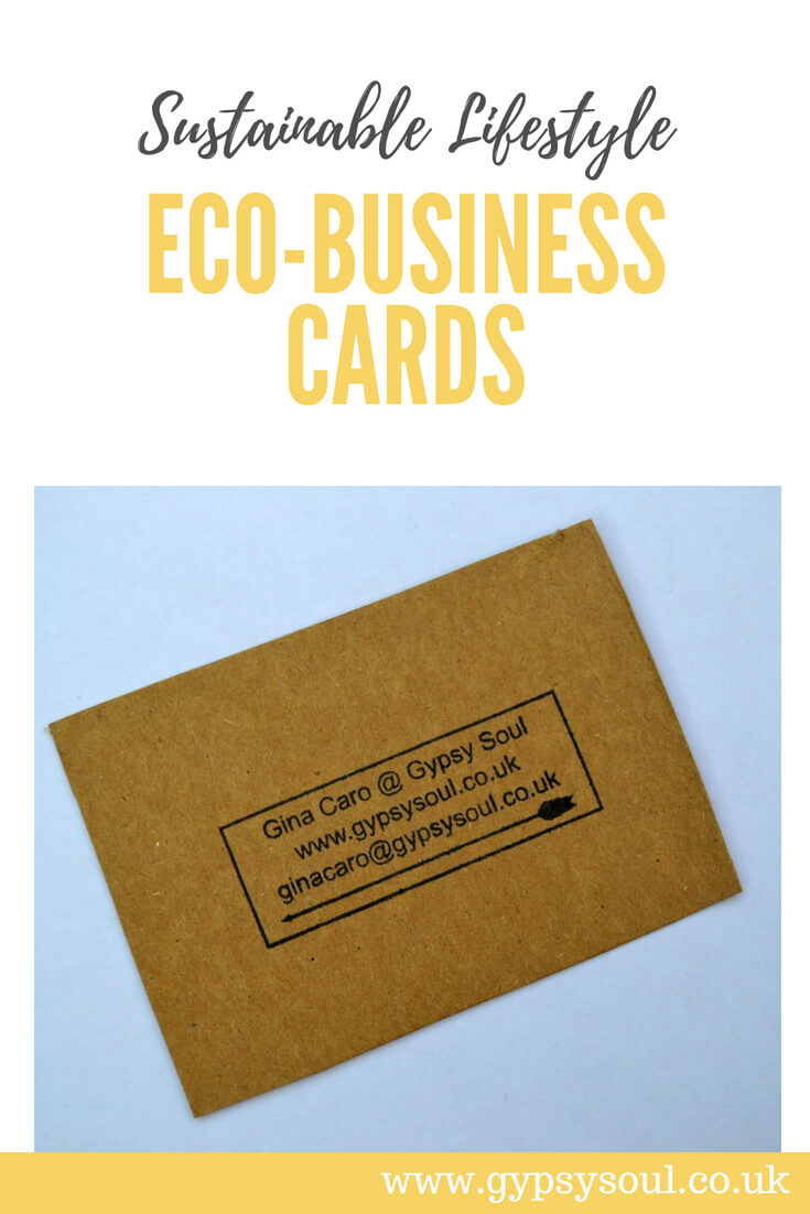Eco-business cards - Sustainable lifestyle #greenliving #eco #simpleliving #sustainablelifestyle