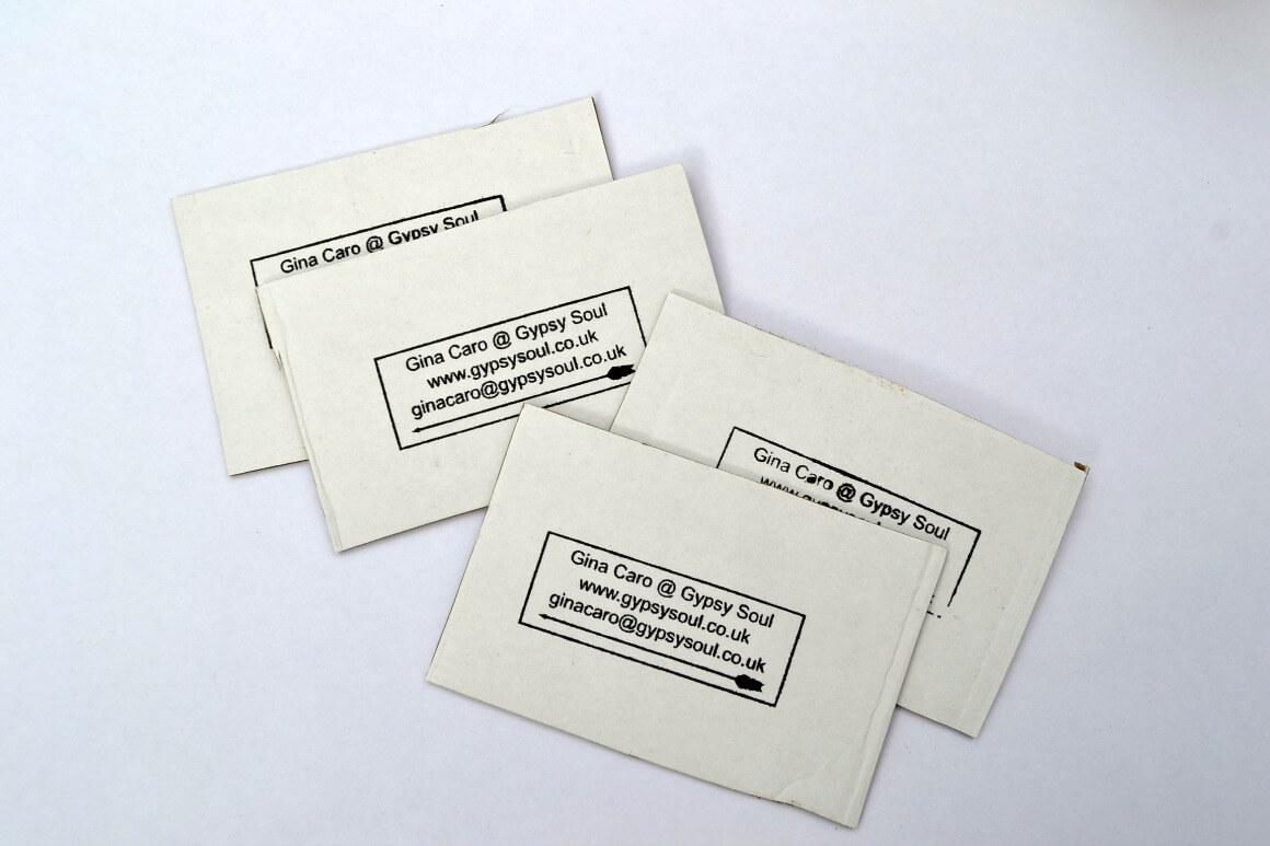 Homemade eco business cards