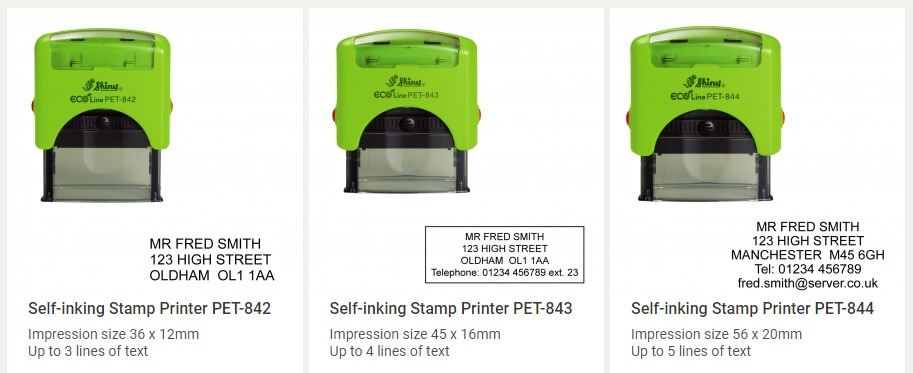 Eco stamps by Stamps Direct