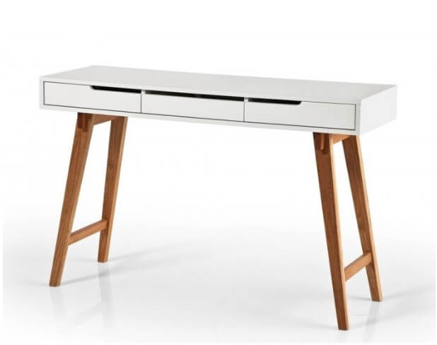 Scandi style home office desk
