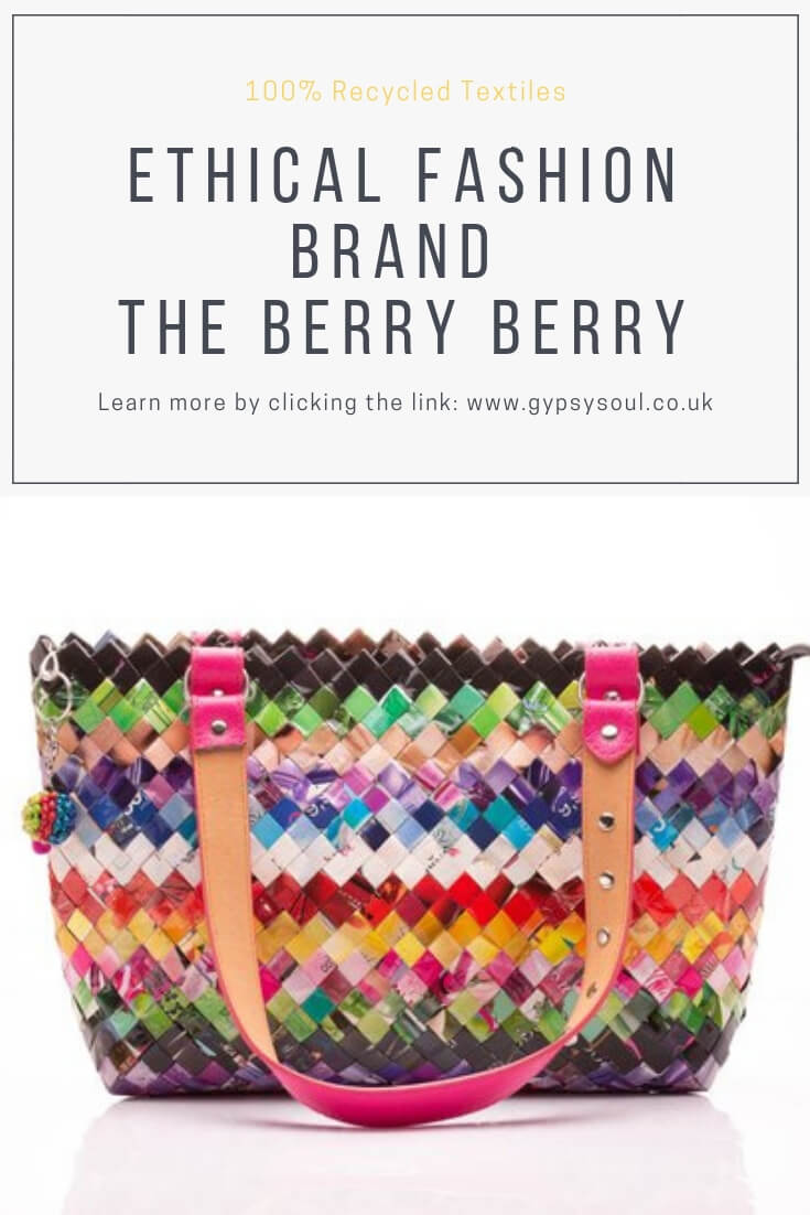 Introducing the ethical fashion brand The Berry Berry who make a range of upcycled fashion items including handbags, totes and makeup bags. #ethicalfashion #ecofashion #ecoliving #sustainablelifestyle