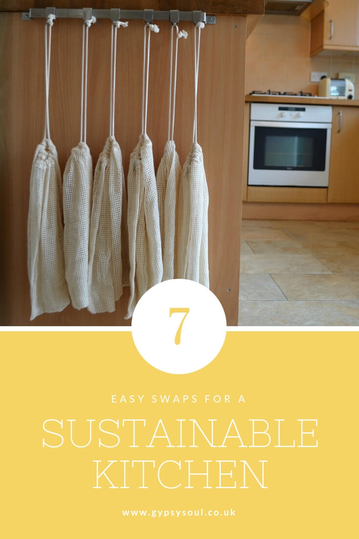 7 Easy Swaps for a Sustainable Kitchen #sustainableliving #sustainablelifestyle #greenliving