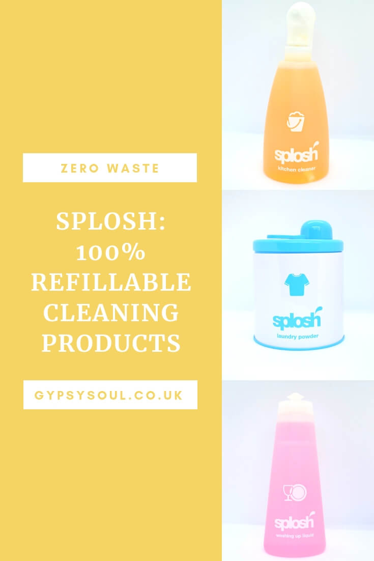 Splosh 100% refillable cleaning products. Fantastic #zerowaste product for the home #greenliving #sustainablelifestyle
