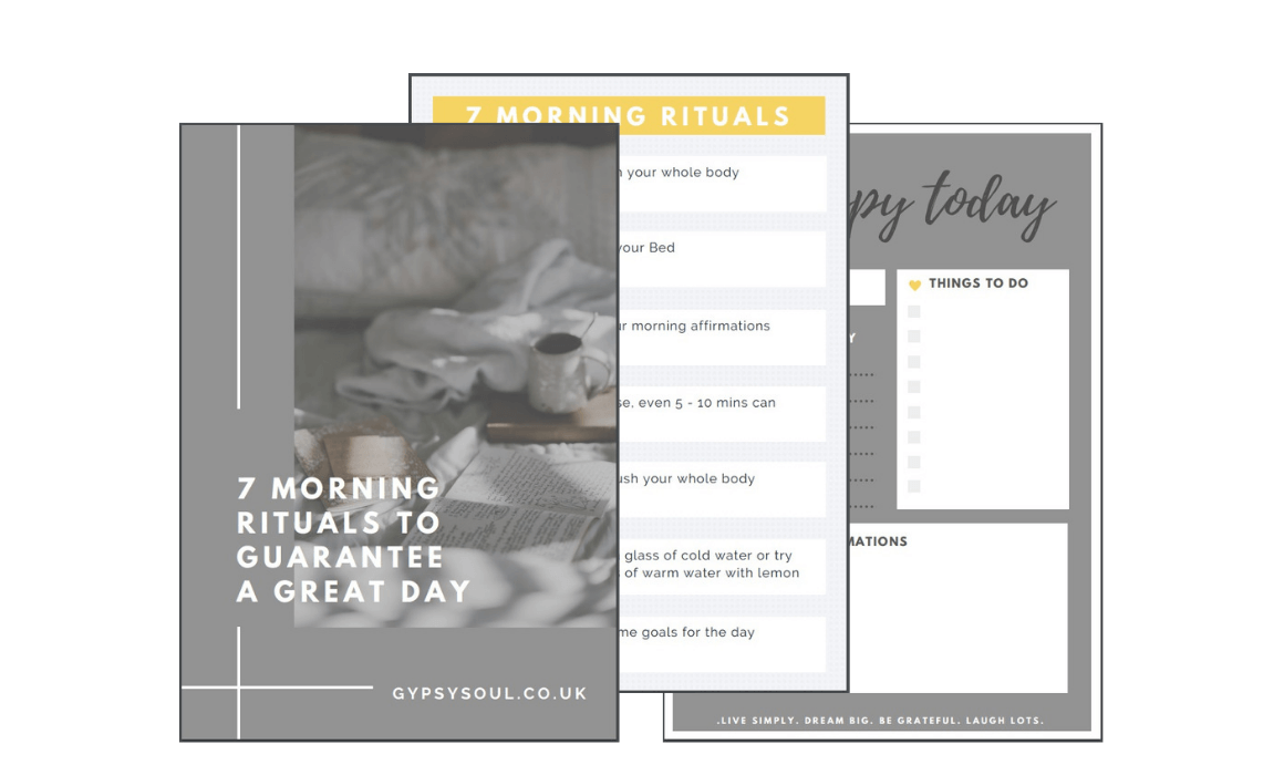7 morning rituals to guarantee a great day - free printout