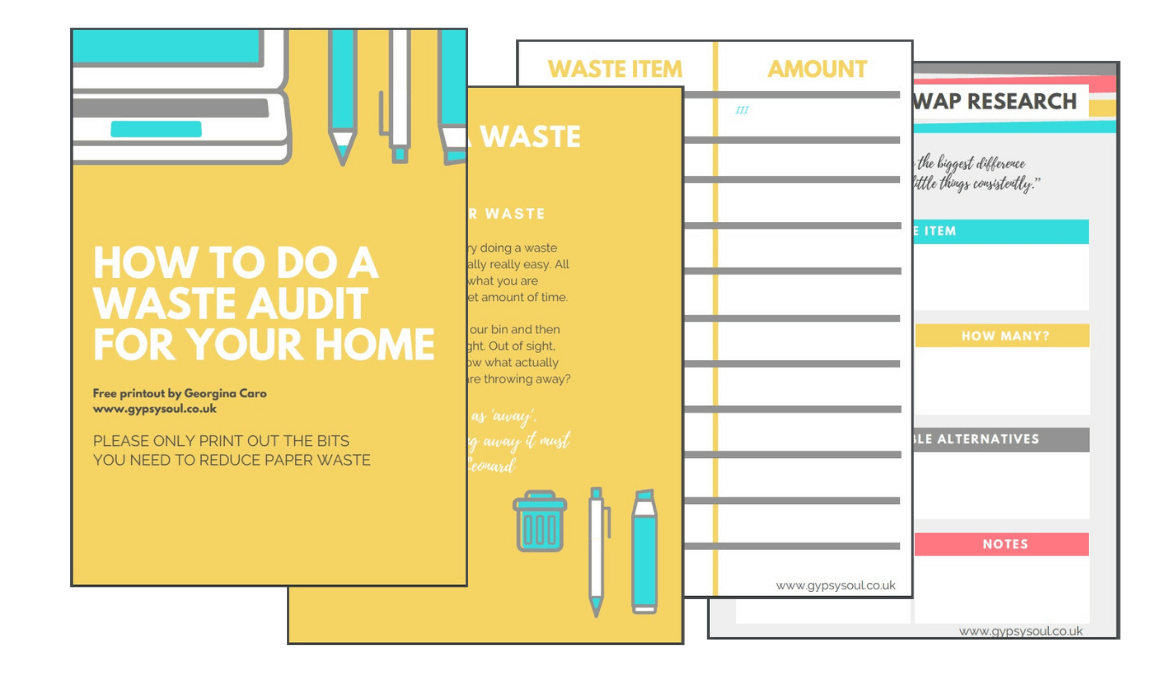 waste audit free printout
