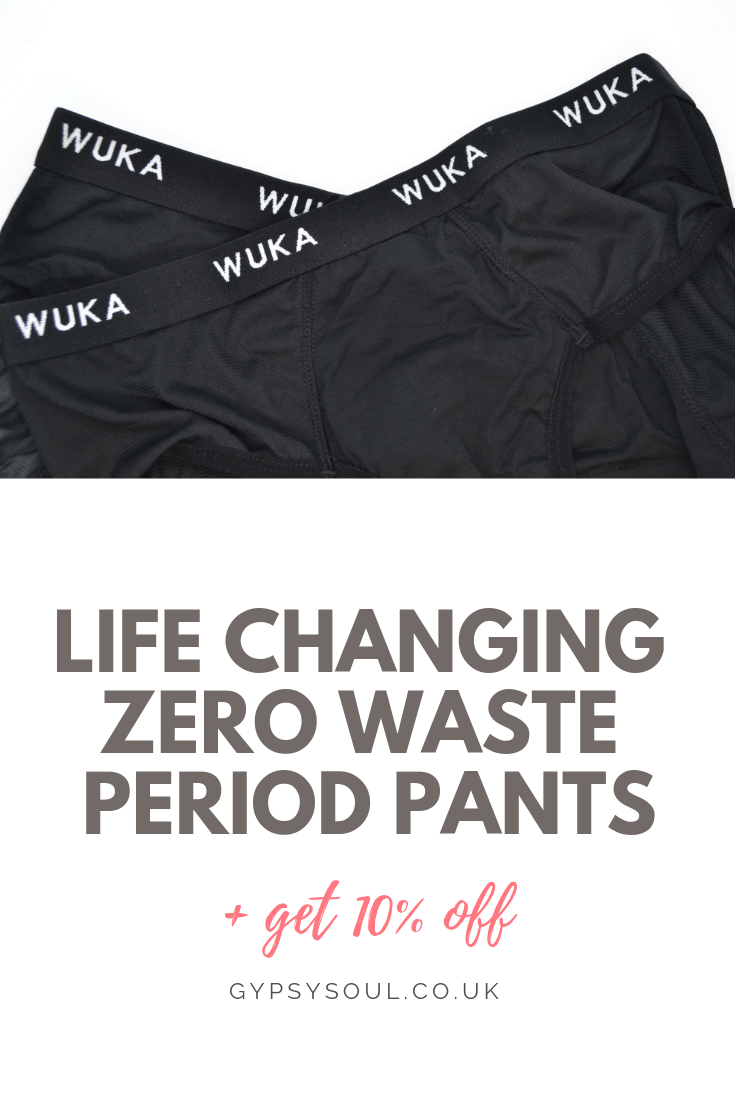 WUKA zero waste period pants. Two words... Life Changing! Get your today & get 10% off #zerowaste #zerowastelifestyle #ecoliving