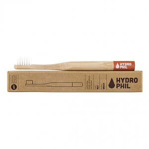 Hydrophil kids bamboo toothbrush red