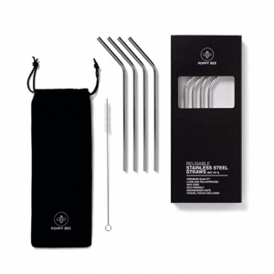 Poppy bee reusable stainless steel straws