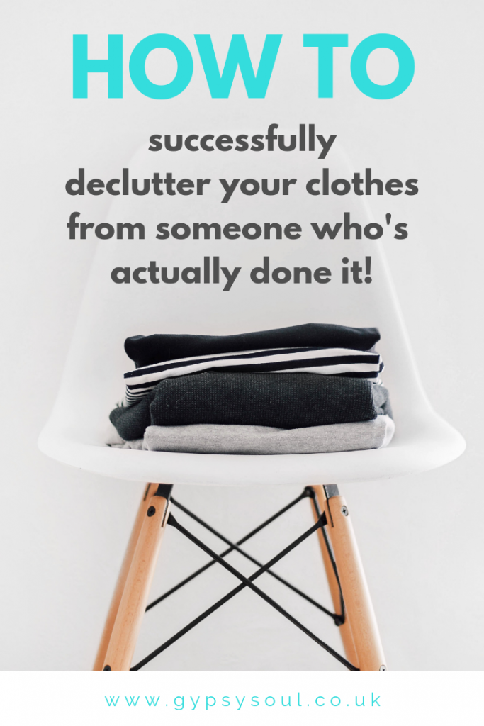 How to successfully declutter your clothes from someone who's actually doen it! #decluttering #minimalism