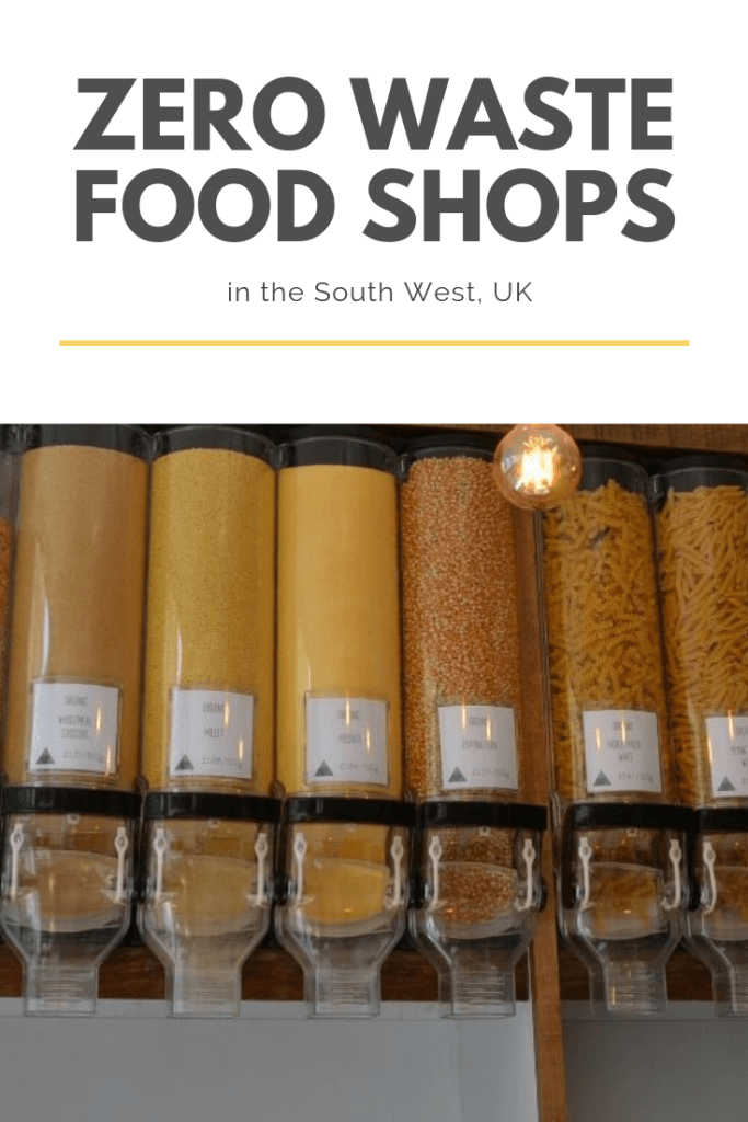 A list of zero waste food shops which can be found int he South West of the UK #zerowaste #zerowastefood #zerowasteshopping