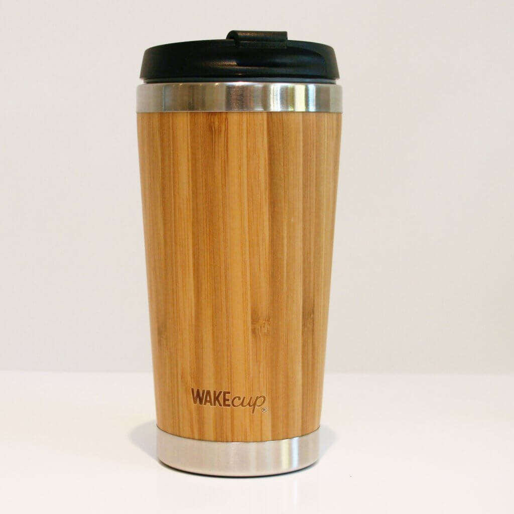 WAKEcup bamboo reusable coffee cup
