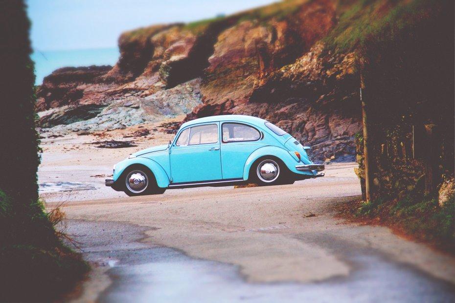 beetle car beach