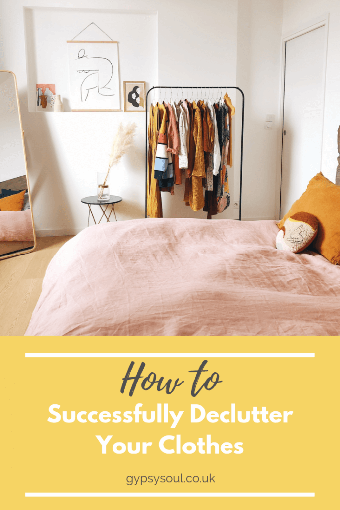 How to successfully declutter your clothes once and for all #declutter #decluttering #homeorganisation