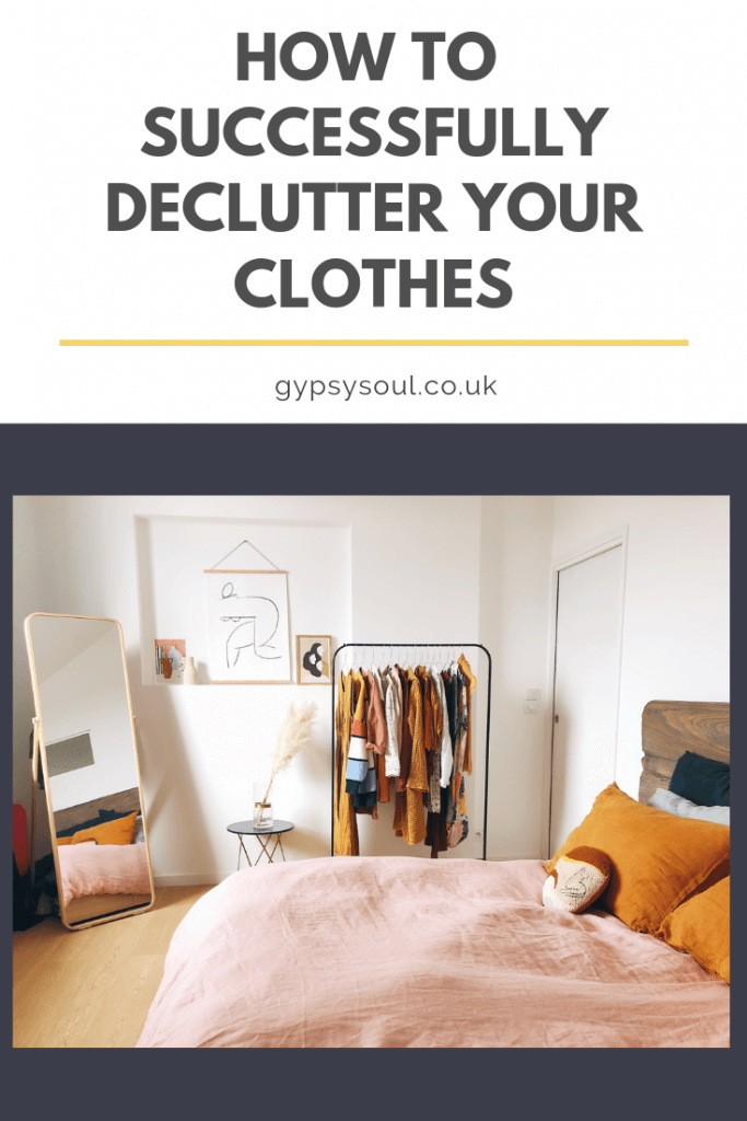 A gudie for how to successfully declutter your clothes #decluttering #declutter #homeorganisation