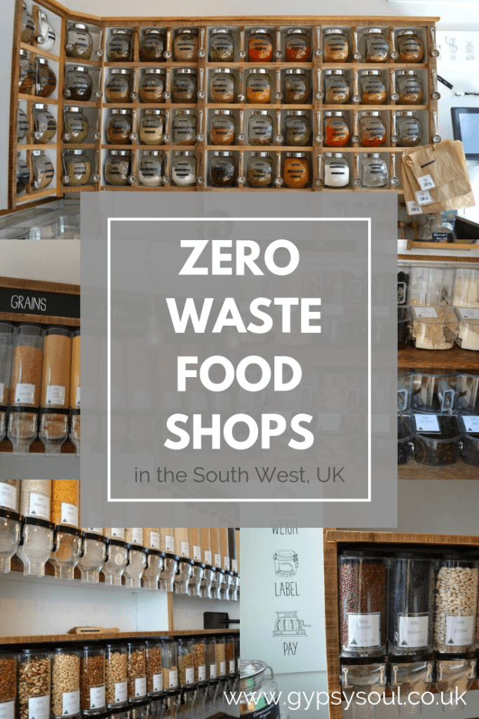 Zero waste food shops in the South West UK #zerowaste #zerowasteshop #zerowasteliving