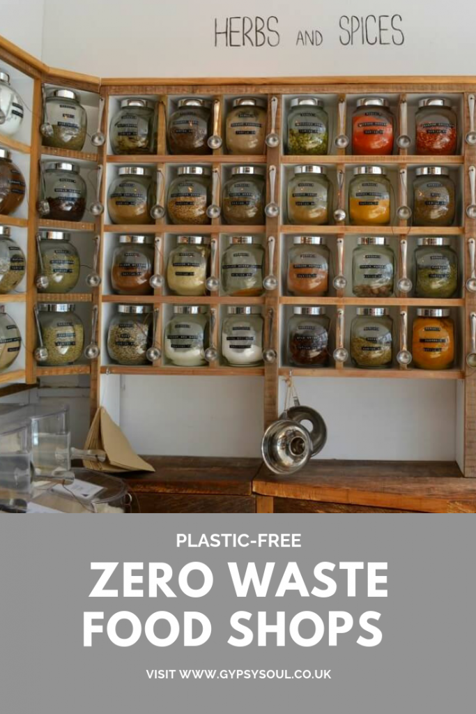 A list of zero waste food shops in the UK, south west #zerowaste #zerowasteshop #zerowasteliving