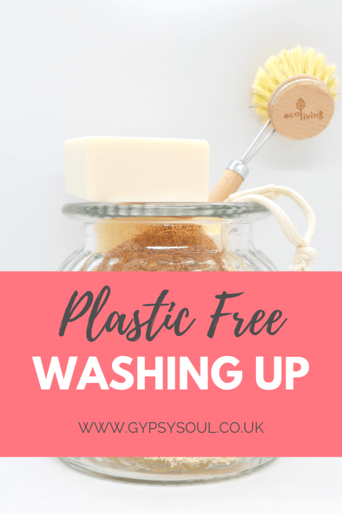 Plastic free washing up routine