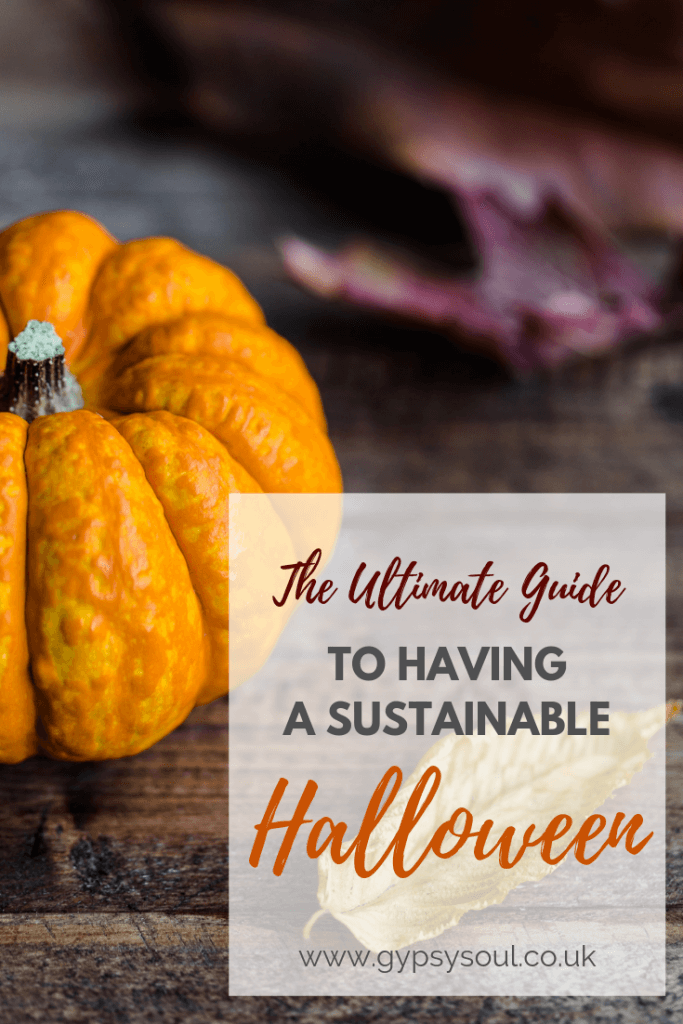 The Ultimate Guide To Having A Sustainable Halloween. Click the image to find out more! #SustainbleLiving #Halloween #ZeroWaste