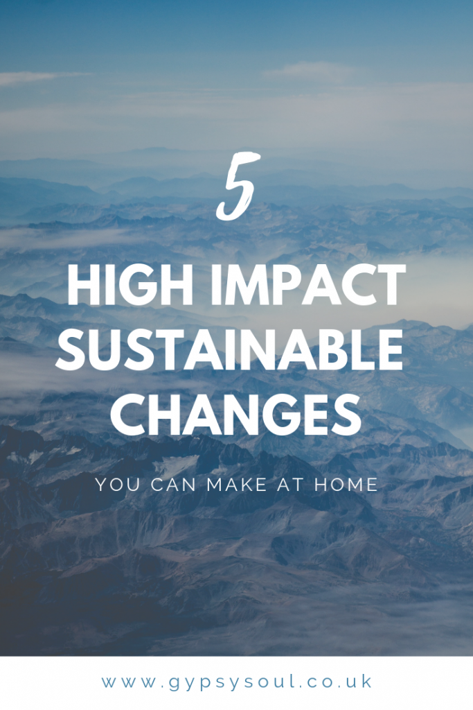 5 high impact sustainable changes that you can make at home #sustainablelifestyle