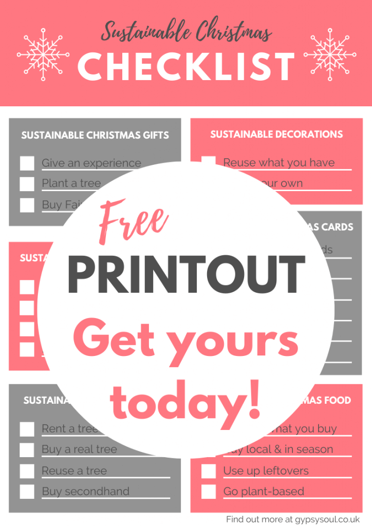 Click the image now to get your free sustainable Christmas checklist!