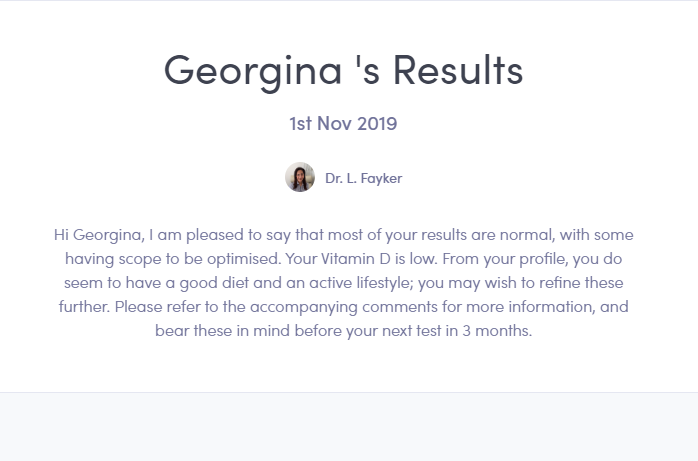 Thriva test results monitor your health