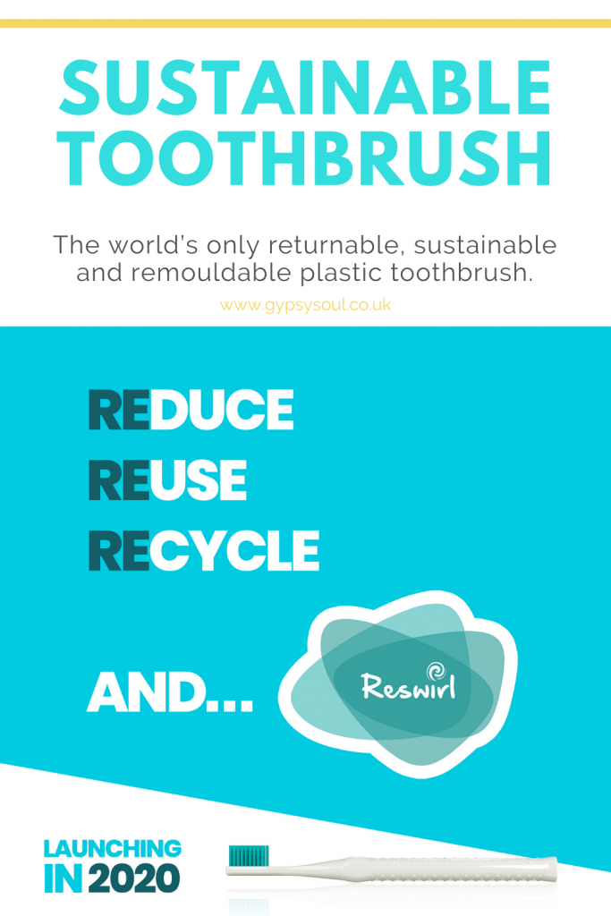 Reswirl - The world's only returnable, sustainable and remouldable plastic toothbrush.. Click to find out more.